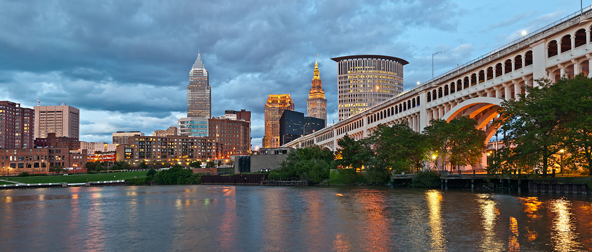 Photograph of Downtown Cleveland as Viewed from the Cuyahoga River